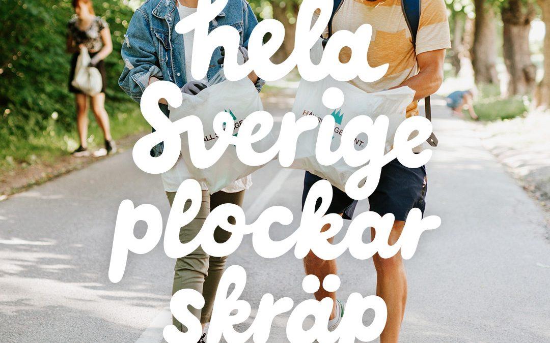 Hela Sverige plockar skräp